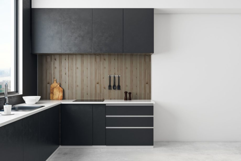 Contemporary,Kitchen,Room,Interior,With,Copy,Space,On,Wall,And