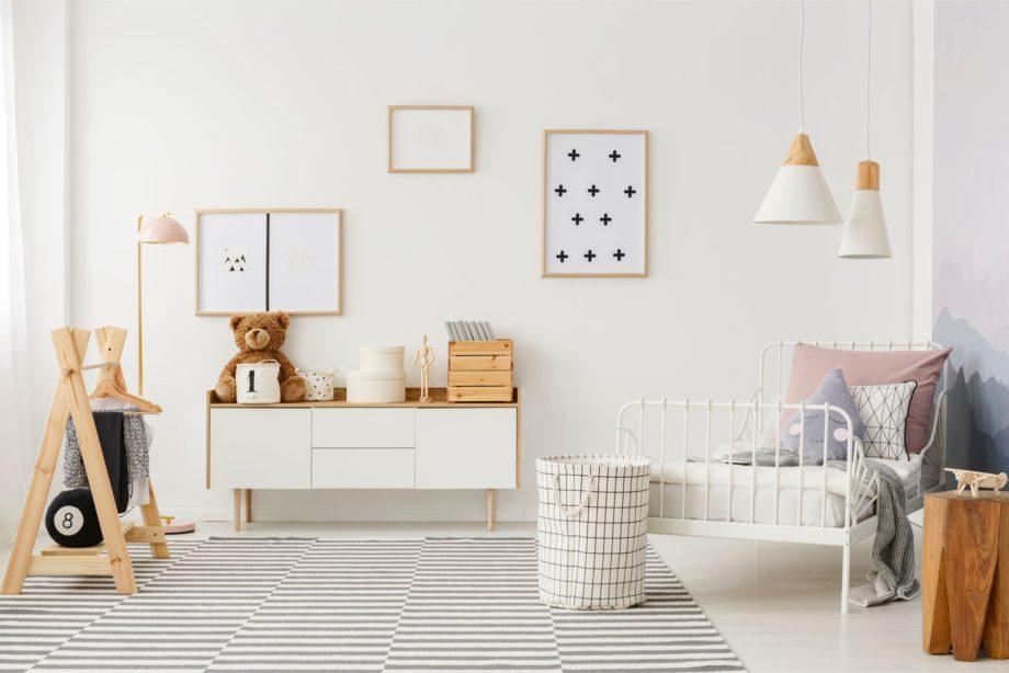Natural,,Bright,Kid's,Bedroom,Interior,With,Wooden,Furniture,,Designer,Accessories