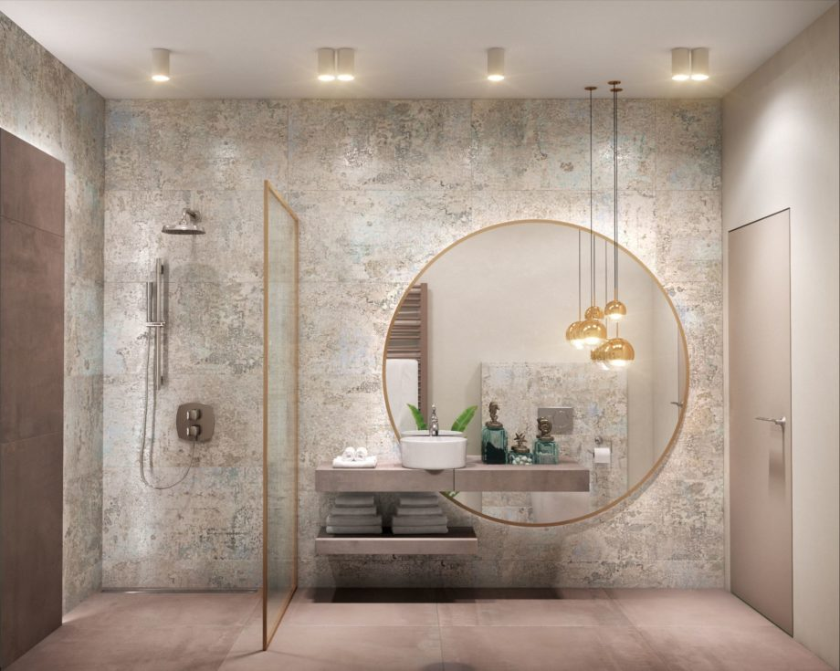 Modern,Bathroom,Interior;,3d,Ilustration,,3d,Rendering;,300,Dpi