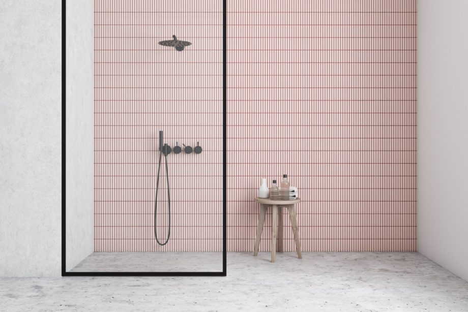 Interior,Of,Minimalistic,Bathroom,With,White,And,Pink,Tile,Walls,