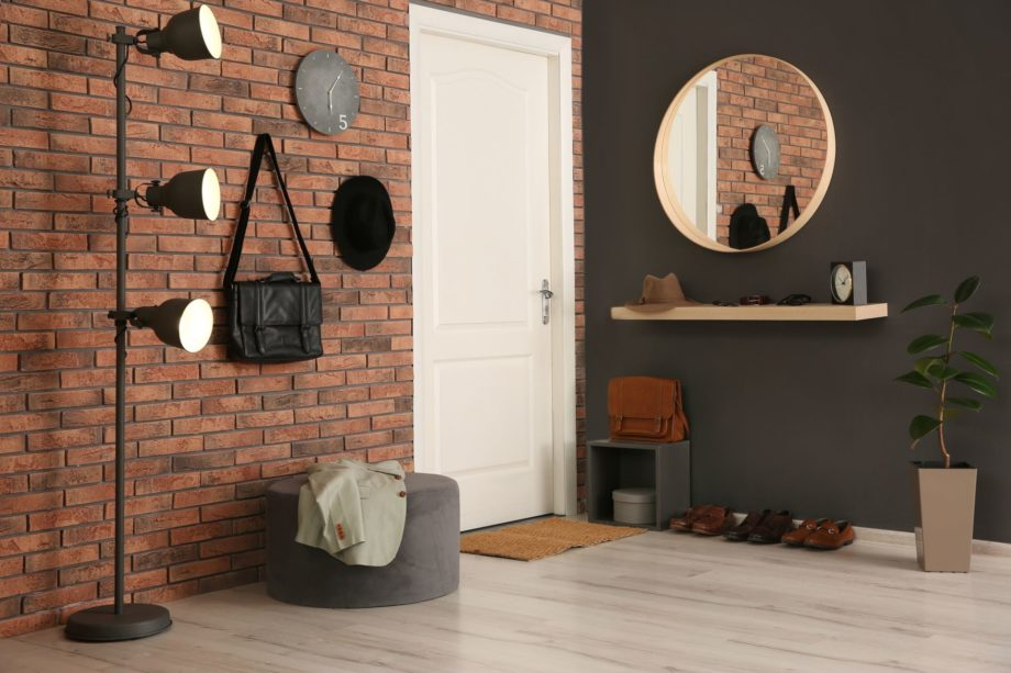 Modern,Hallway,With,Stylish,Furniture.,Interior,Design