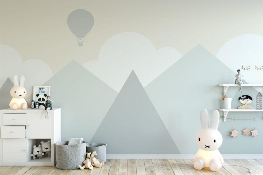 Mock,Up,Wall,In,Child,Room,Interior.,Interior,Scandinavian,Style.