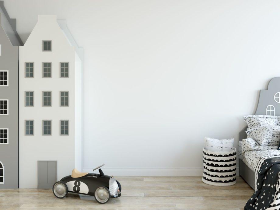 Mock,Up,Wall,In,Child,Room,Interior.,Wall,Art.,Interior